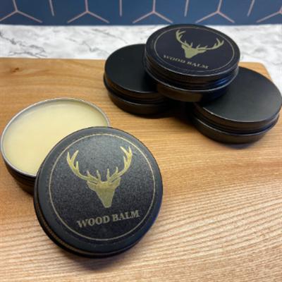 Wood Balm Tin open