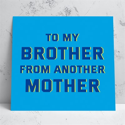 Brother from Another Greeting Card
