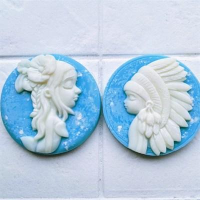 Cameo Wax Melt Duo (blue)