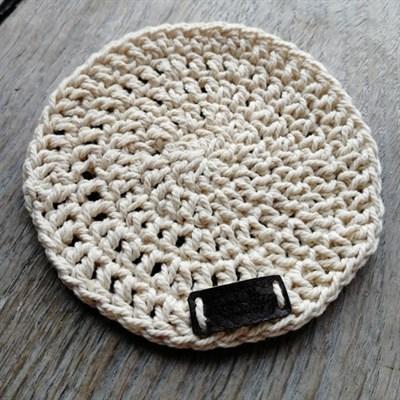 Crochet coaster single - Cream