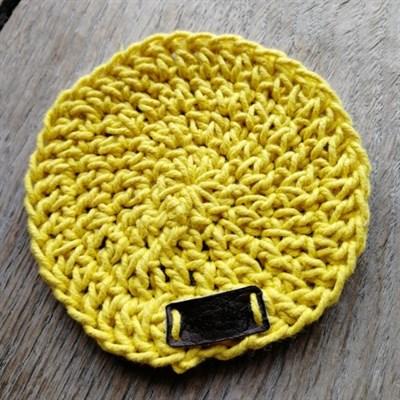 Crochet coaster single - Mustard