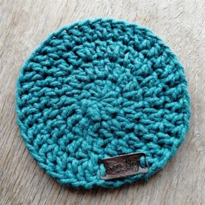 Crochet coaster single - Teal