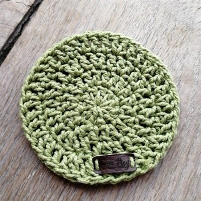 Crochet coaster single - Sage