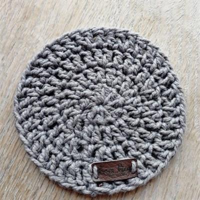 Crochet coaster single - Dark grey