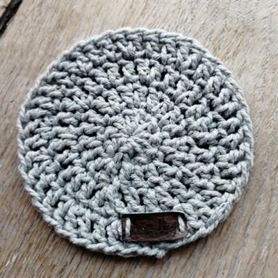 Crochet coaster single - Light grey