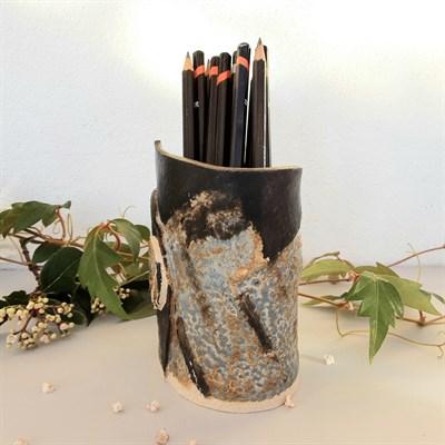 Dartmoor series small stoneware vase #2, quarter turned