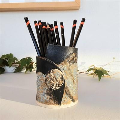 Dartmoor series small stoneware vase #2 as pencil pot
