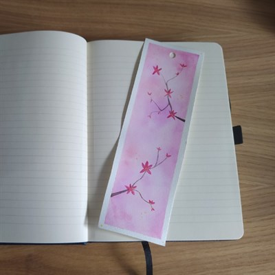 Floral Watercolour Bookmark