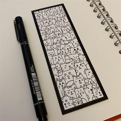 Repeating Cat Pattern Bookmark