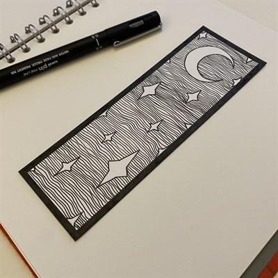 Moon and Stars Bookmark