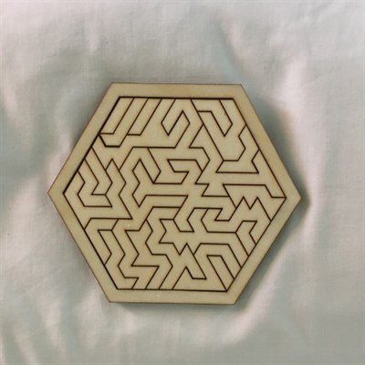 Hexagonal Geometric Wooden Tray Puzzle different