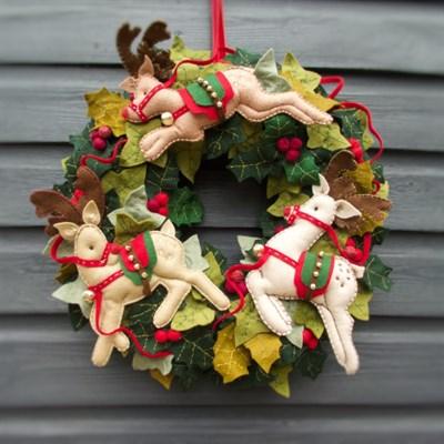 Jingle Of Bells Winter Christmas Wreath