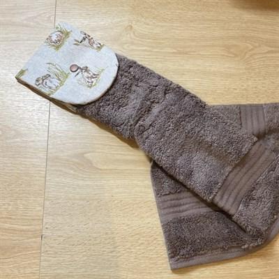 Kitchen Gift Set - Rustic Hare Print towel