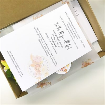 Make Your Own Flower Crown Kit inside instructions