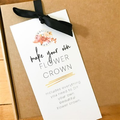 Make Your Own Flower Crown Kit packaging