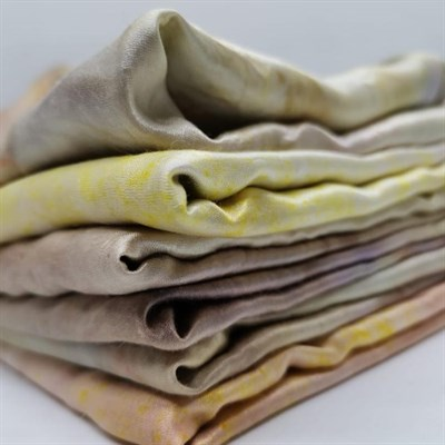 Naturally Bundle Dyed Silk Scarf, the whole collection!
