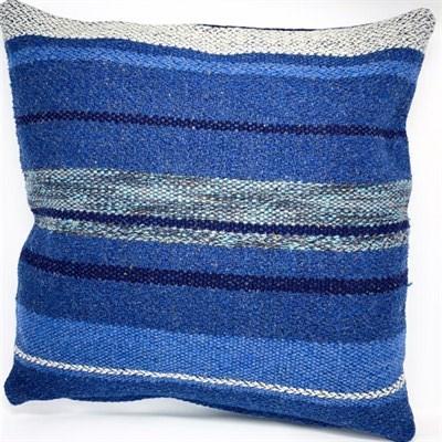Ocean Blue 1 wool cushion