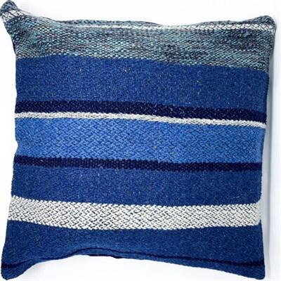 Ocean Blue 2 handwoven cushion