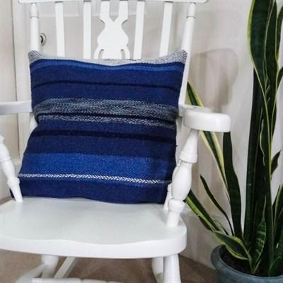Ocean Blue Cushion 3 Wool