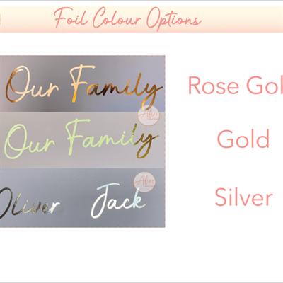 Personalised family hands foil print - foils