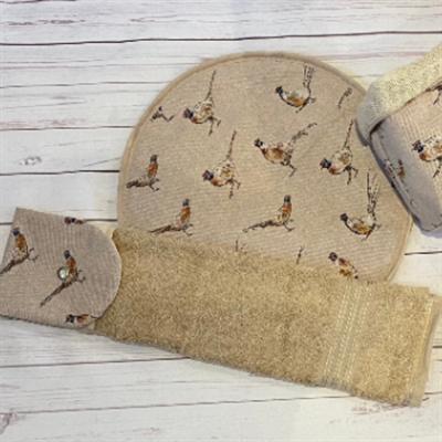 Pheasant Print Kitchen Gift Set set