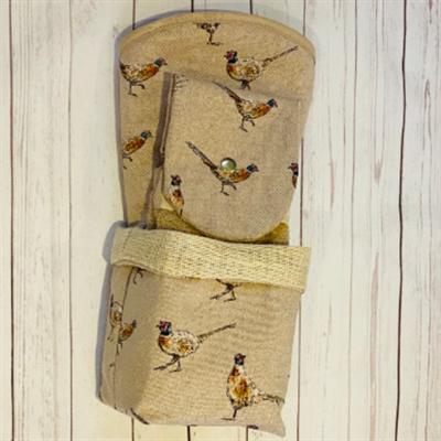 Pheasant Print Kitchen Gift Set inside