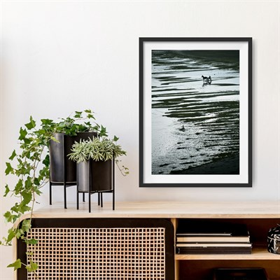 Photographic Art Print 'Hesitation' shown framed in room setting
