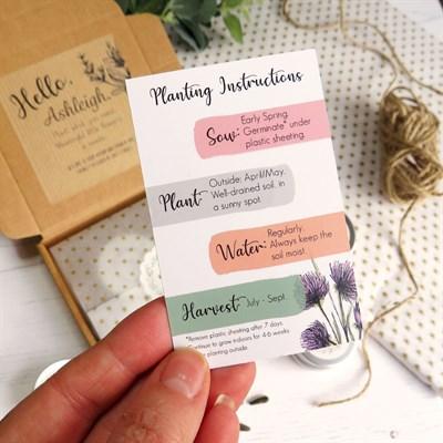 Botanical Planting Instruction Cards
