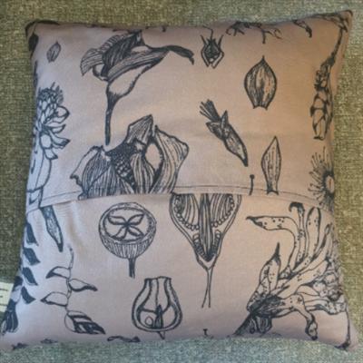 South American Flora Cushion Back