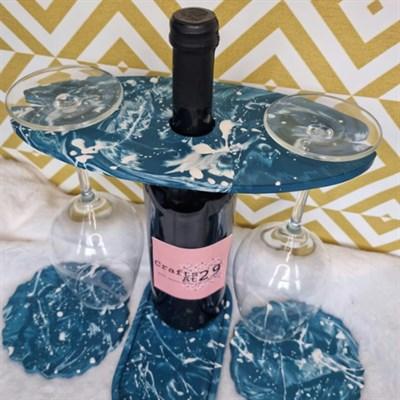 Splattered marble wine set