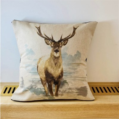 Stag Print Cushion 42x42cm front