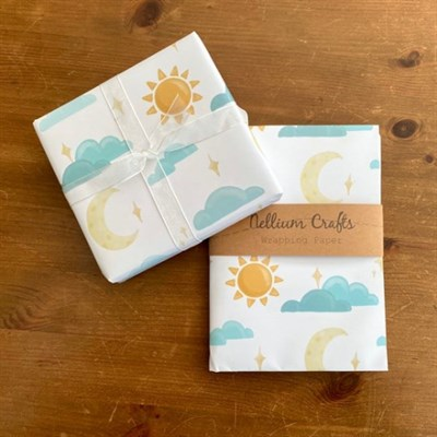 Sun and Moon Luxury Wrapping Paper