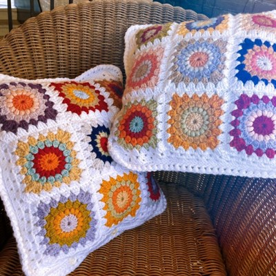 Sunburst Square Cushion 1 - it's the one on the left in this photo.