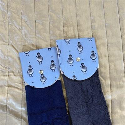 Towel, Kitchen Rail Towel, Ducks closeup