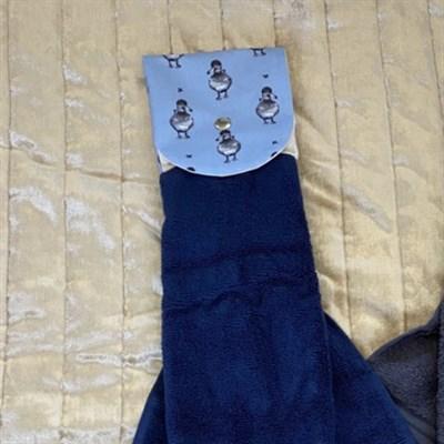 Towel, Kitchen Rail Towel, Ducks blue