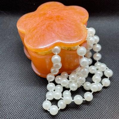 Iridescent Orange Trinket Box
