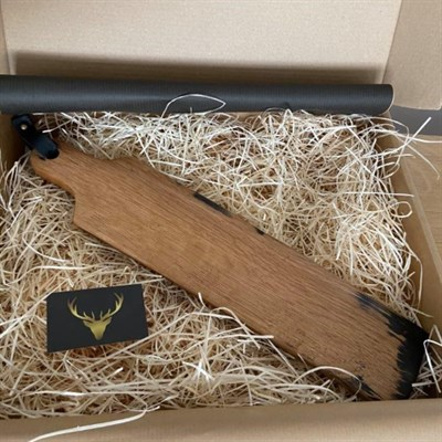 Whisky Stave Serving Board in box