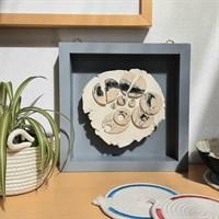 3D ceramic wall art 'Elemental' in room setting
