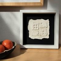 3d Ceramic Wall Art 'more Or Less'