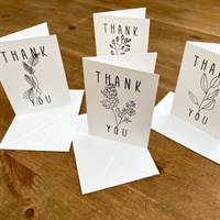 A7 Sized cards for a small letter of thanks!