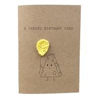 A Cheesy Birthday Pun Card