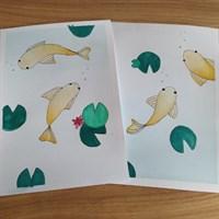A5 Goldfish pond watercolour set