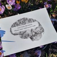 Access Denied Pointillism Art Print