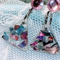 Aluminium and resin earrings gallery shot 13