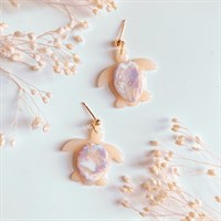 Amethyst Inspired Turtle Earrings