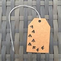 Bird Print Tags