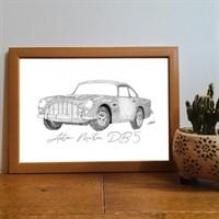 Aston Martin Db5 Pointillism Art Print