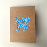 Baby Boy! on recycled brown card