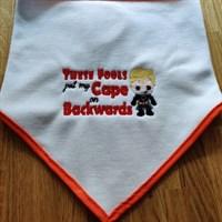 Baby Comical bib cape on bacwards