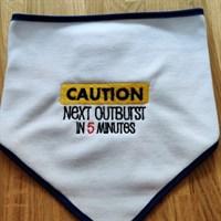 Baby comical bib Caution
